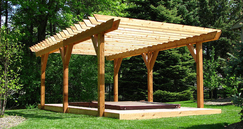 plan pergola bois gallery of pergola bois moderne en modles adosss ou autoports pour le jardin. Black Bedroom Furniture Sets. Home Design Ideas