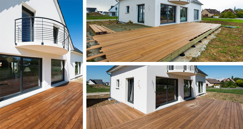 terrasse en bois la baule gu rande saint nazaire. Black Bedroom Furniture Sets. Home Design Ideas